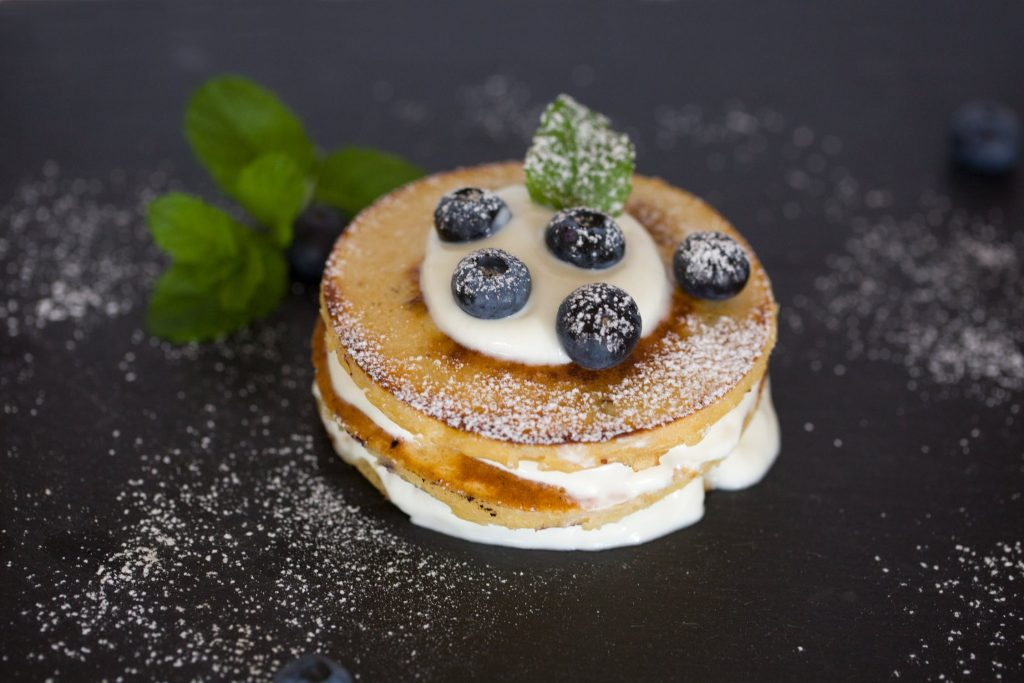 healthy pancake recipes - blueberry