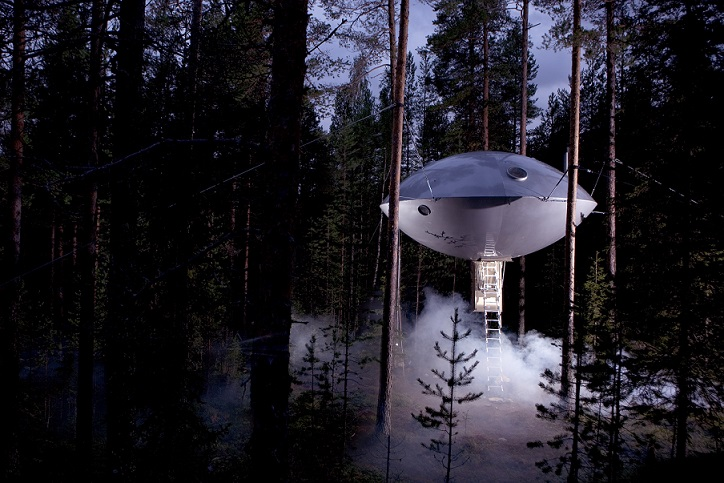 Weirdest Hotels in the World - TreeHotel, Sweden