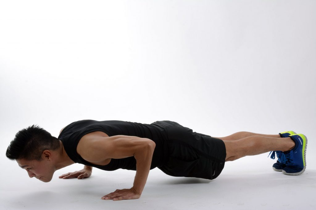 plank - bodyweight exercise