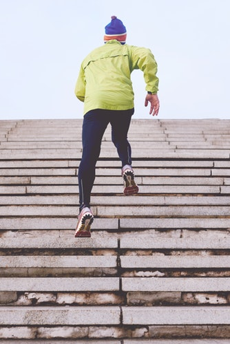 cardio and weight training - running up stairs