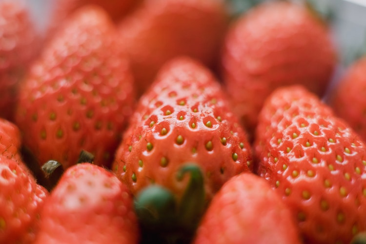 cardio and weight training - strawberries